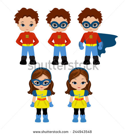 Generic super boy and super girl clipart svg freeuse library Stock Images similar to ID 161226413 - generic superhero figure ... svg freeuse library