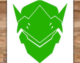 Genji overwatch clipart vector download Overwatch genji vector download