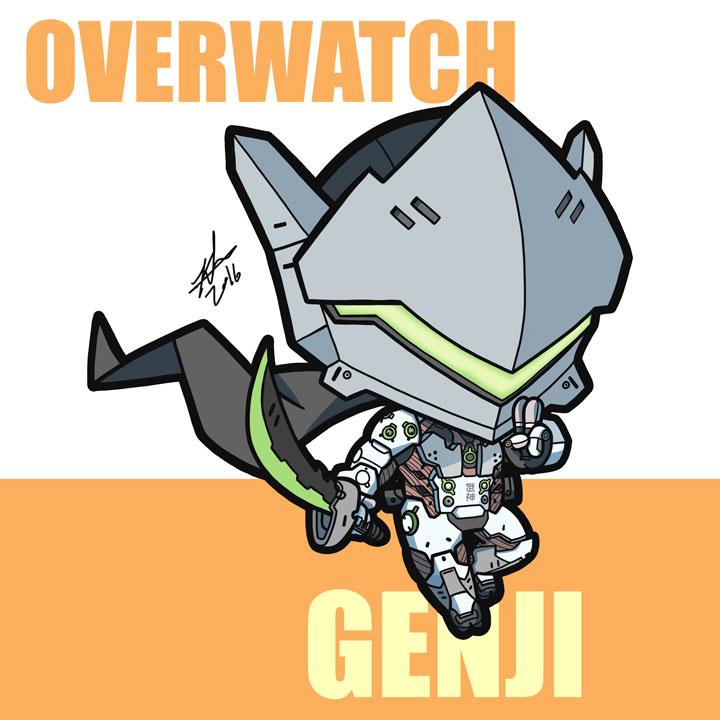 Genji overwatch clipart jpg transparent stock Fan Art] The dragon becomes me! Lil' Genji drawing I did : Overwatch jpg transparent stock
