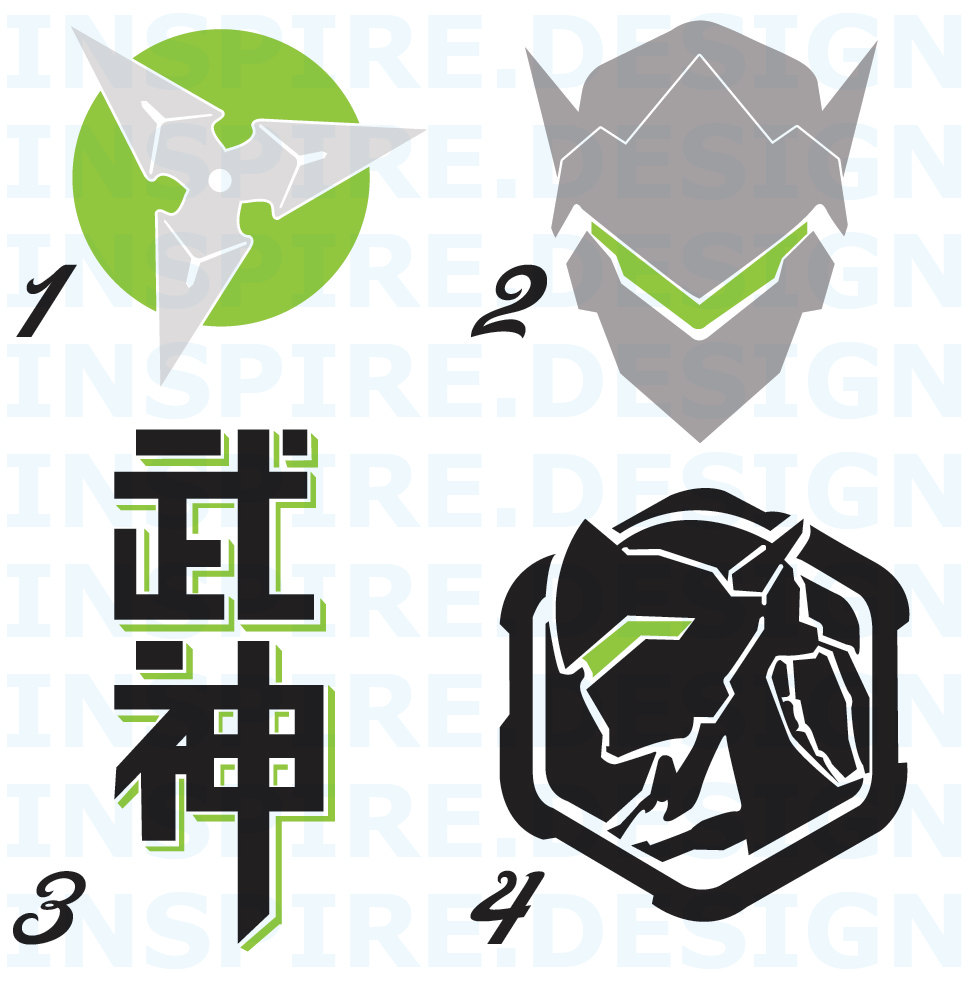 Genji overwatch clipart png free stock Genji Decal PLUS png free stock