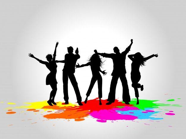 Gente bailando clipart svg freeuse Siluetas de personas bailando Vector Gratis | SILUETAS | People ... svg freeuse