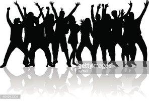 Gente bailando clipart download Siluetas DE Personas Bailando vectores en stock - Clipart.me download