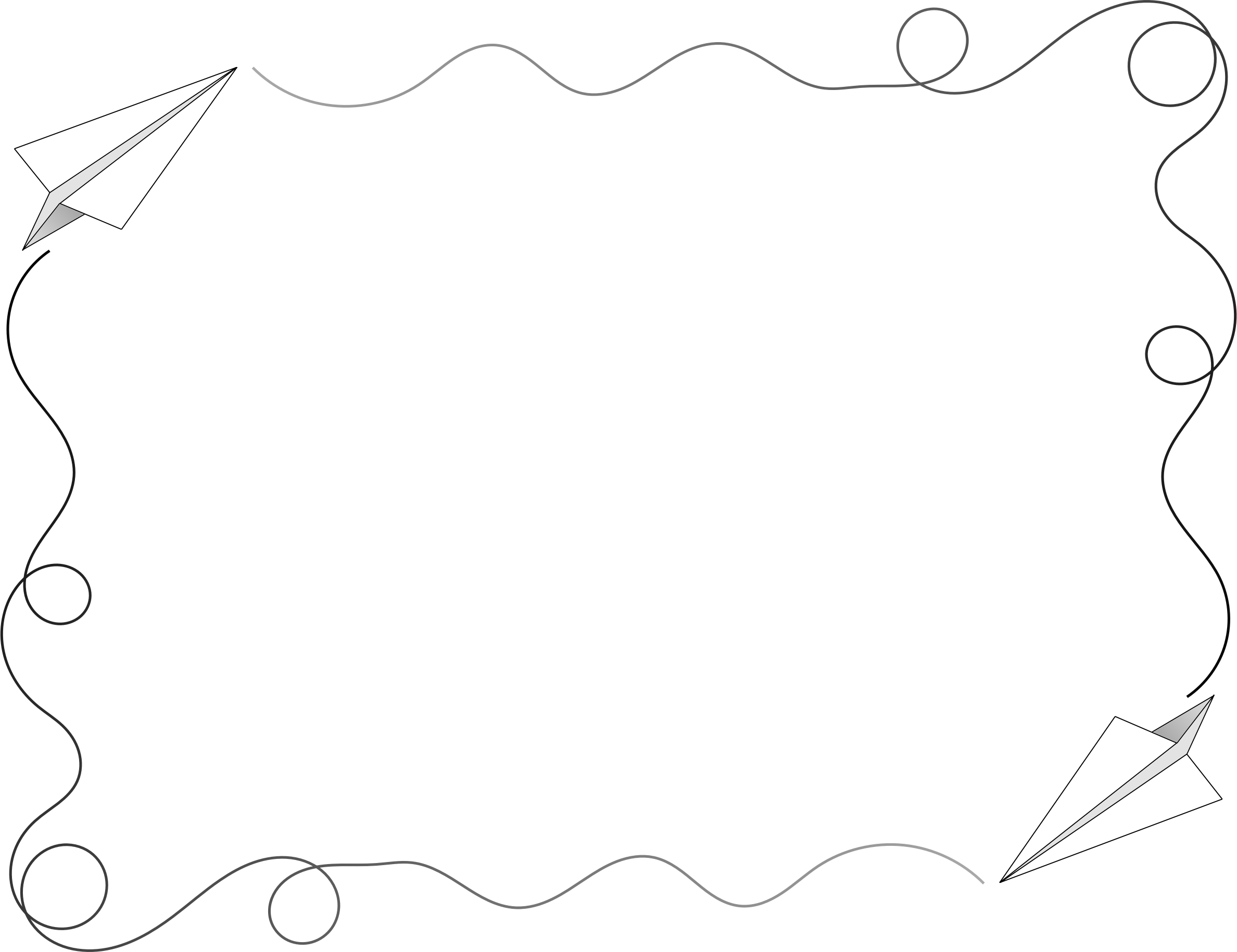 Geoboard snowflake clipart banner black and white stock Paper Airplane Border by @Arvin61r58, Paper Airplane Frame/Border ... banner black and white stock