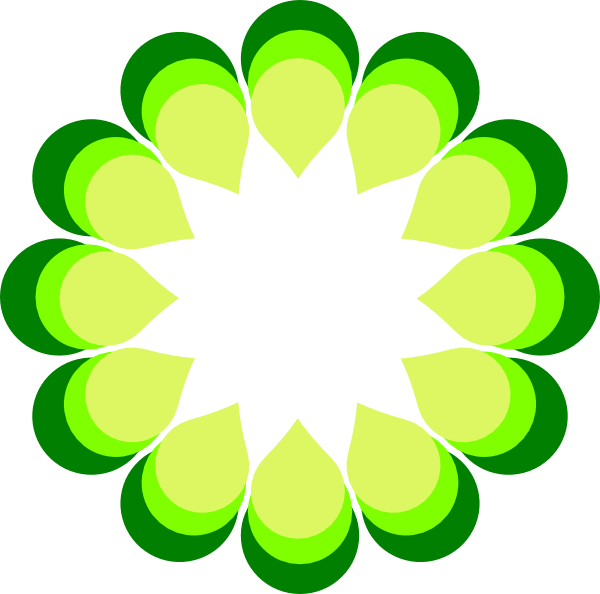 Geometric flower clipart clip royalty free stock Geometric Flower Green Clip Art at Clker.com - vector clip art ... clip royalty free stock