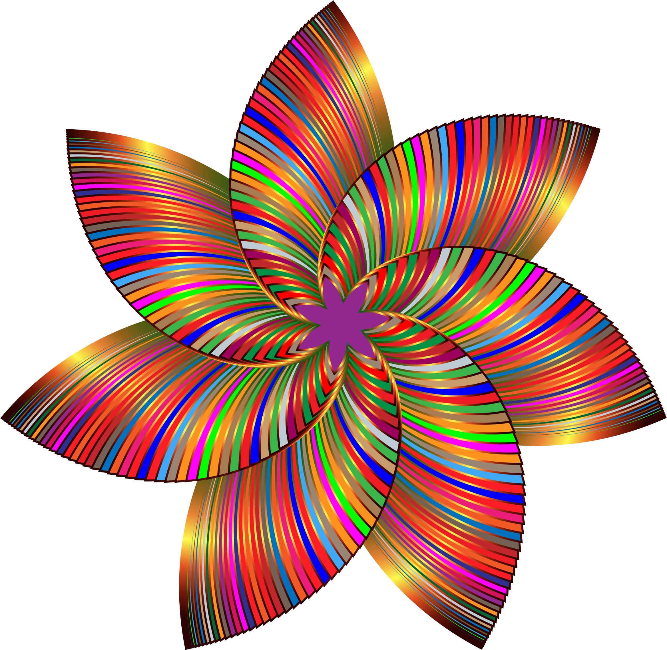 Geometric flower clipart image stock Clipart - Colorful Flower Line Art 3 image stock