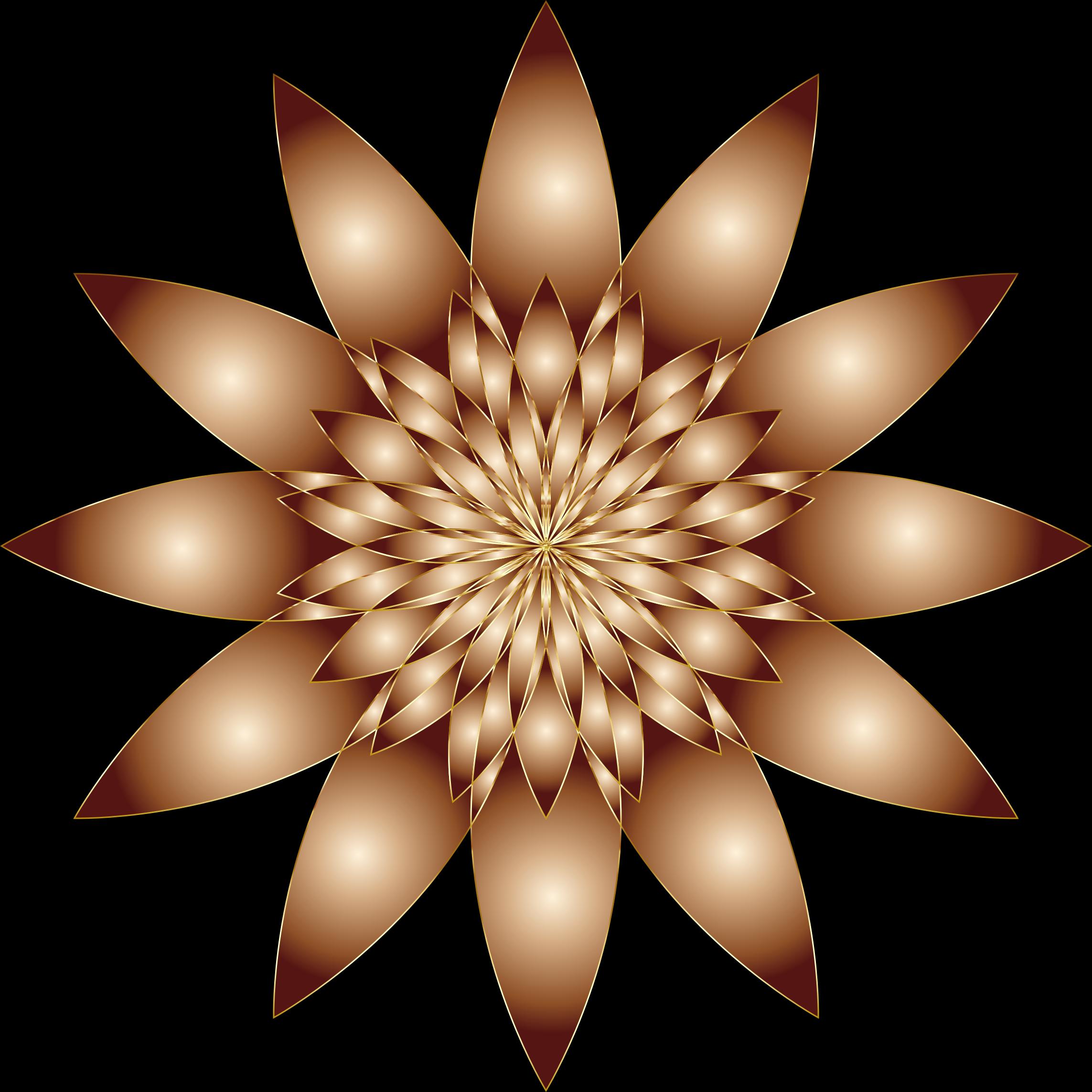 Geometric flower clipart svg transparent download Clipart - Chromatic Flower 10 No Background svg transparent download