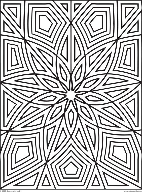 Geometric patterns clipart for kids clip black and white Printable Geometric Patterns | Designs Print Get Your Free ... clip black and white