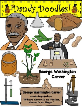 George washington carver clipart picture royalty free stock George Washington Carver Clip Art by Dandy Doodles | Clip Art ... picture royalty free stock