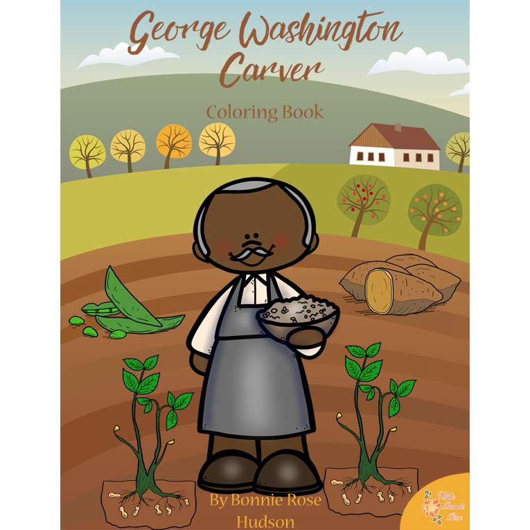 George washington carver clipart png library library George Washington Carver Coloring Book-Level A or Level B png library library
