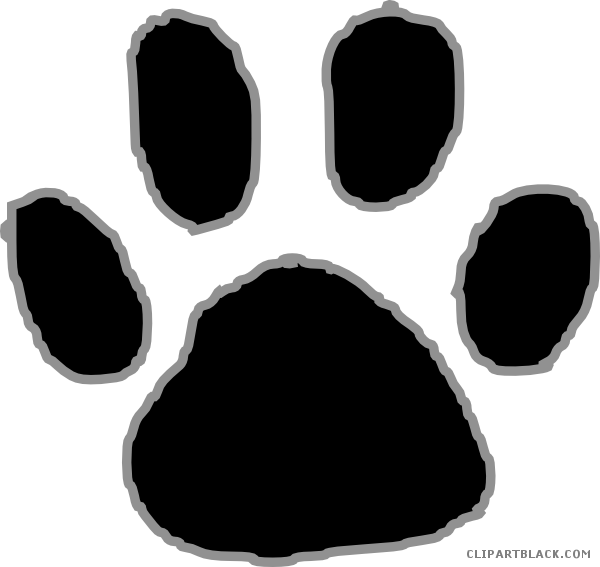 Georgia hairy dog vs aubrey tiger football clipart clip download Tiger Paw Print Animal free black white clipart images clipartblack ... clip download