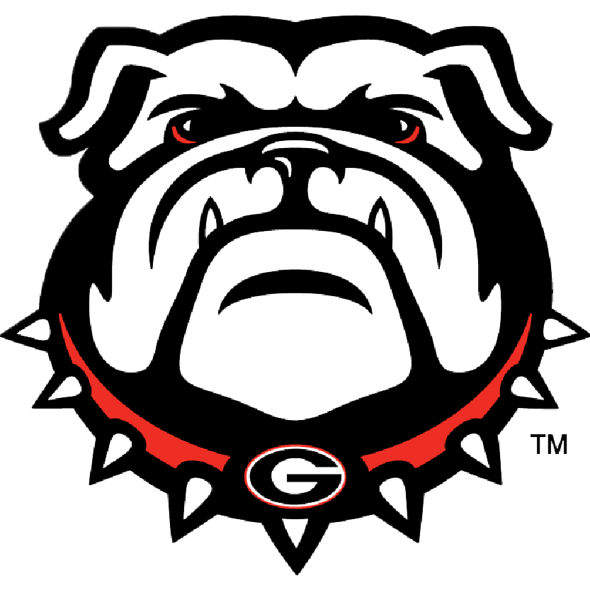 Georgia hairy dog vs aubrey tiger football clipart jpg black and white University of Georgia — Daytripper University jpg black and white
