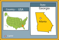 Georgia on us map clipart royalty free Free Map Clipart - Map Clip Art Graphics - Illustrations royalty free
