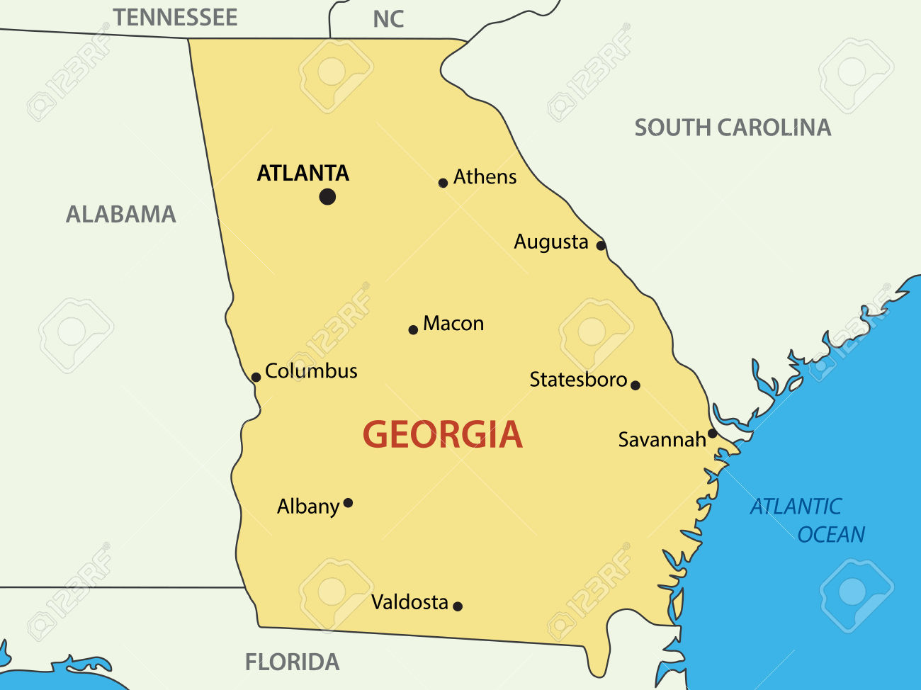 Georgia on us map clipart stock 4,459 Georgia Country Stock Vector Illustration And Royalty Free ... stock