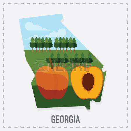 Georgia on us map clipart picture free 571 Georgia Us Map Stock Vector Illustration And Royalty Free ... picture free