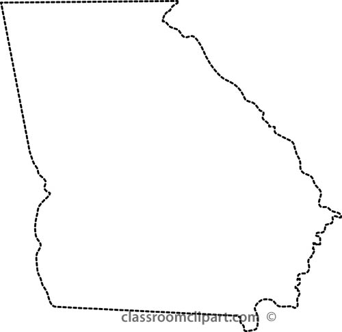 Georgia on us map clipart freeuse stock Map of ga clipart - ClipartFest freeuse stock