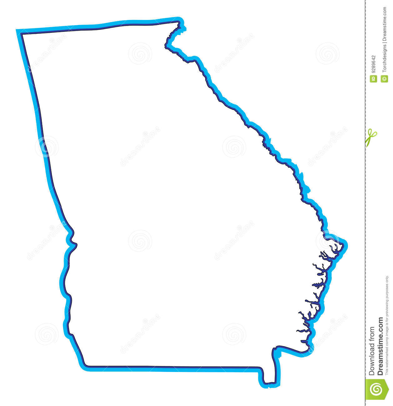 Georgia on us map clipart banner free stock State of georgia map clipart - ClipartFest banner free stock