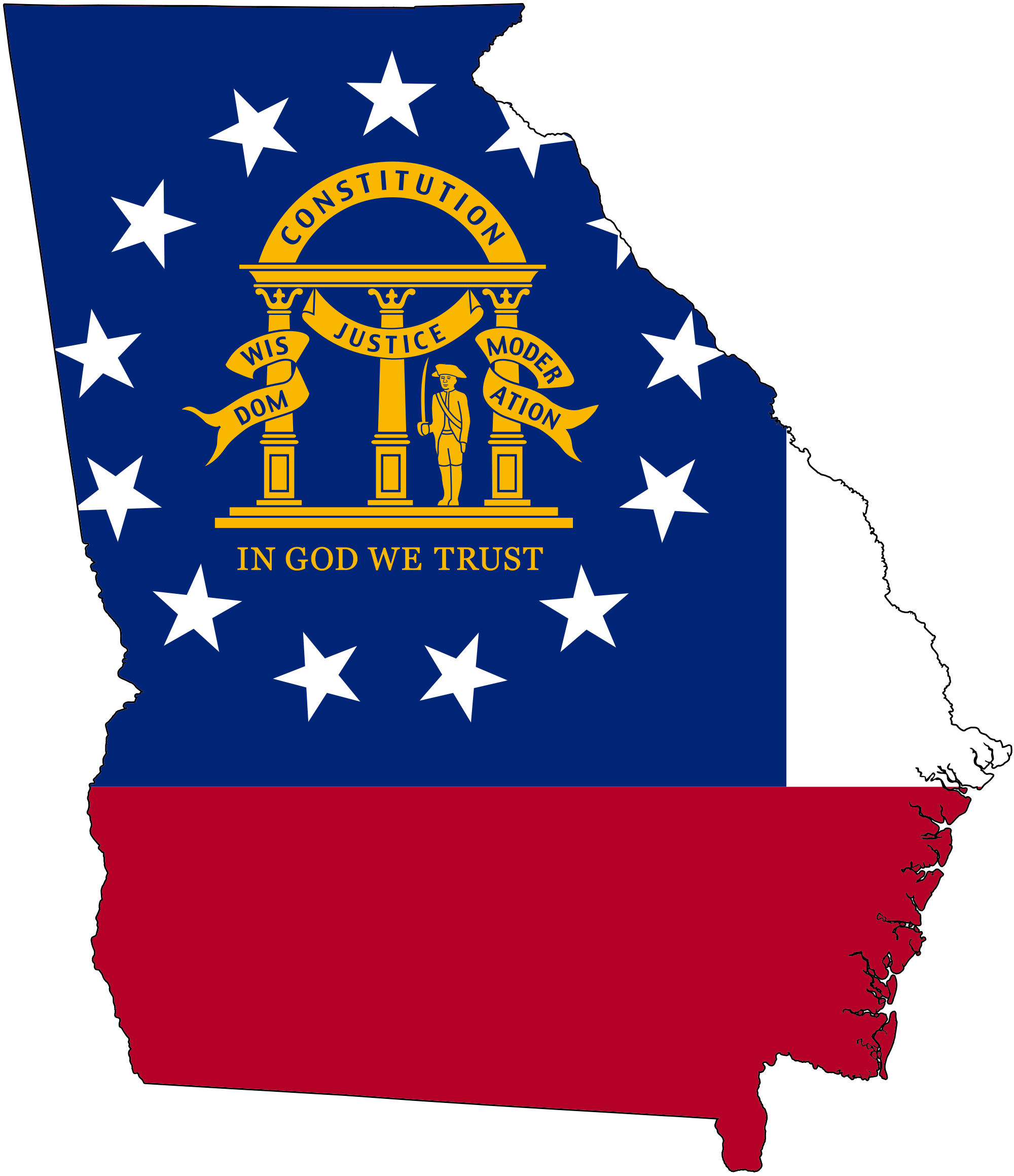 Georgia on us map clipart picture library download File:Flag-map of Georgia (U.S. state).svg - Wikimedia Commons picture library download