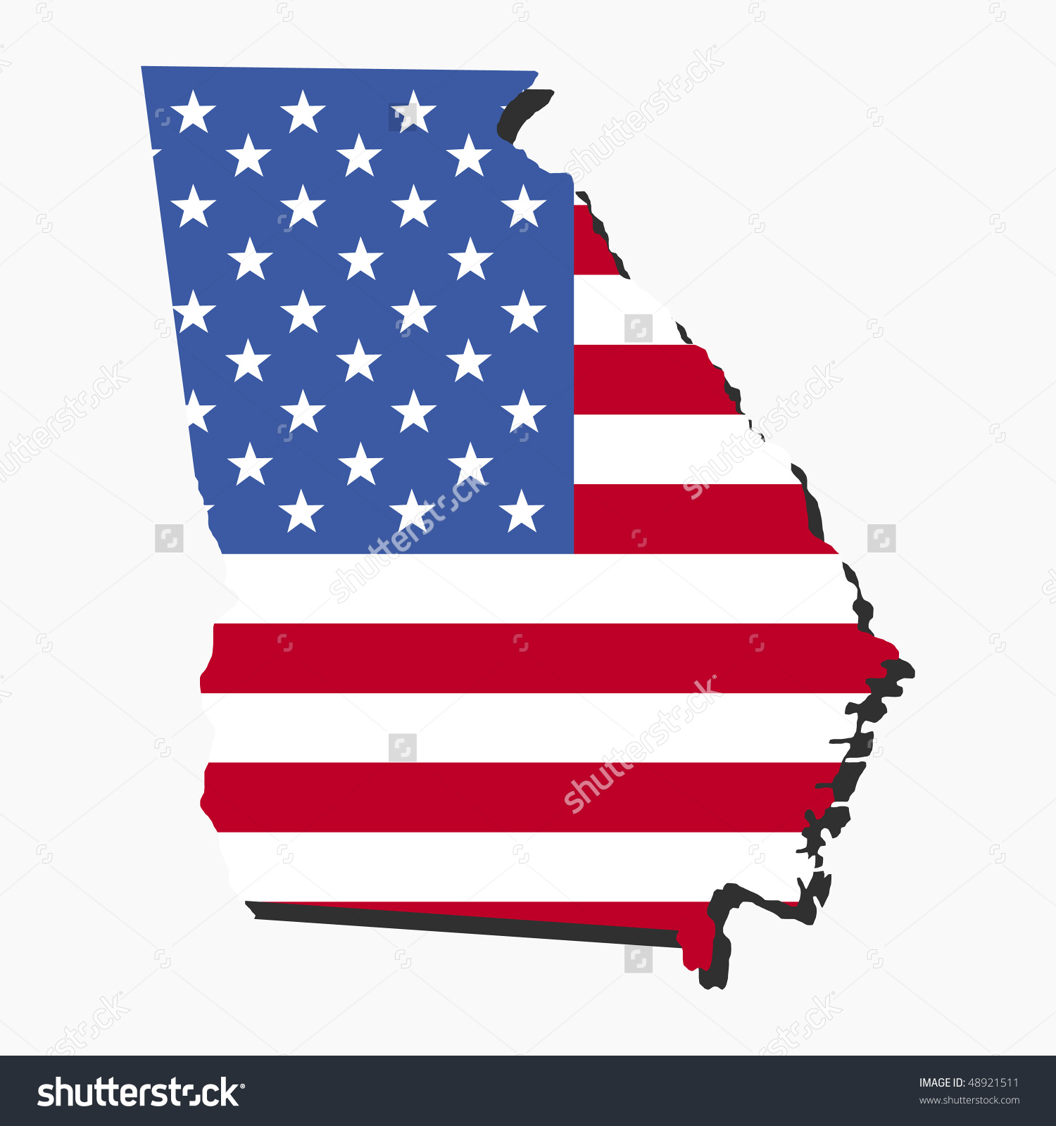 Georgia on us map clipart graphic stock Us and georgia flag clipart - ClipartFest graphic stock