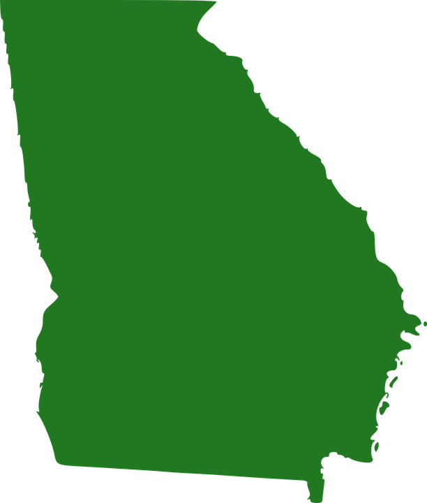 Georgia on us map clipart jpg royalty free library Free vector graphic: Map, Georgia, United, States - Free Image on ... jpg royalty free library