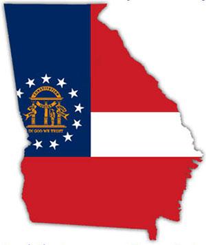 Georgia state flag clipart