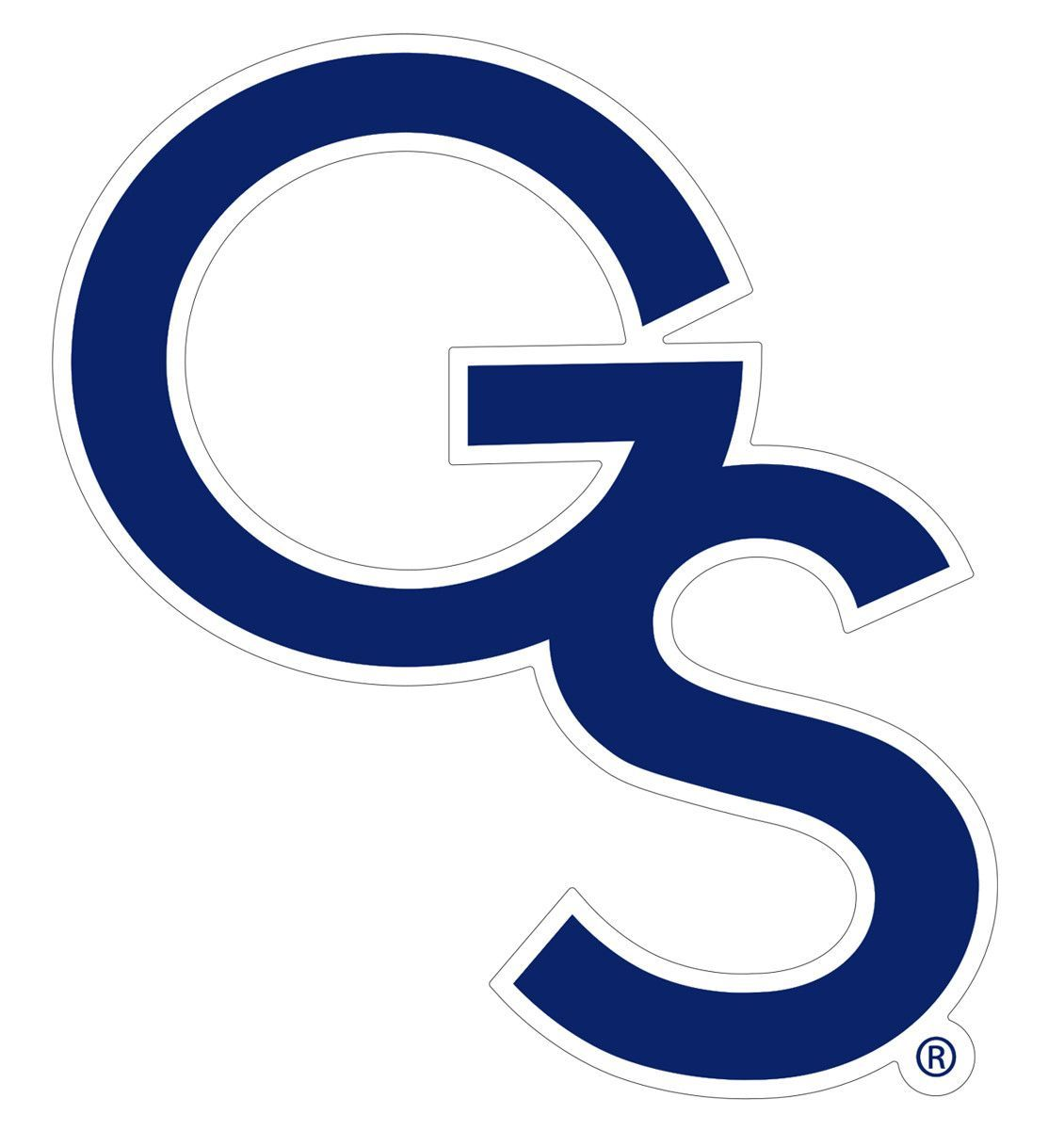 Georgia state university clipart vector black and white download Georgia Southern GS Baseball Logo Decal - 4 Inch | Cameo Crafting ... vector black and white download