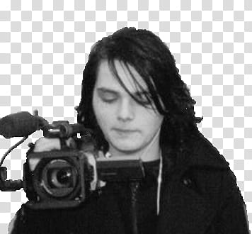 Gerard clipart picture free Gerard Way, person holding black video camera transparent background ... picture free