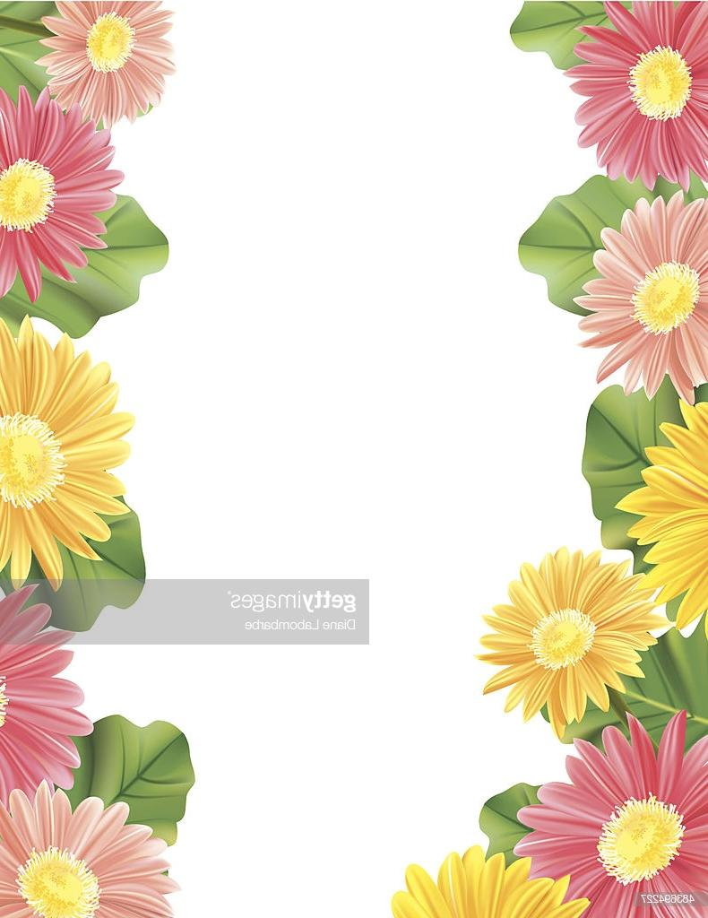 Gerber daisy border clipart svg royalty free Unique Gerbera Daisy Border Vector Images » Free Vector Art, Images ... svg royalty free