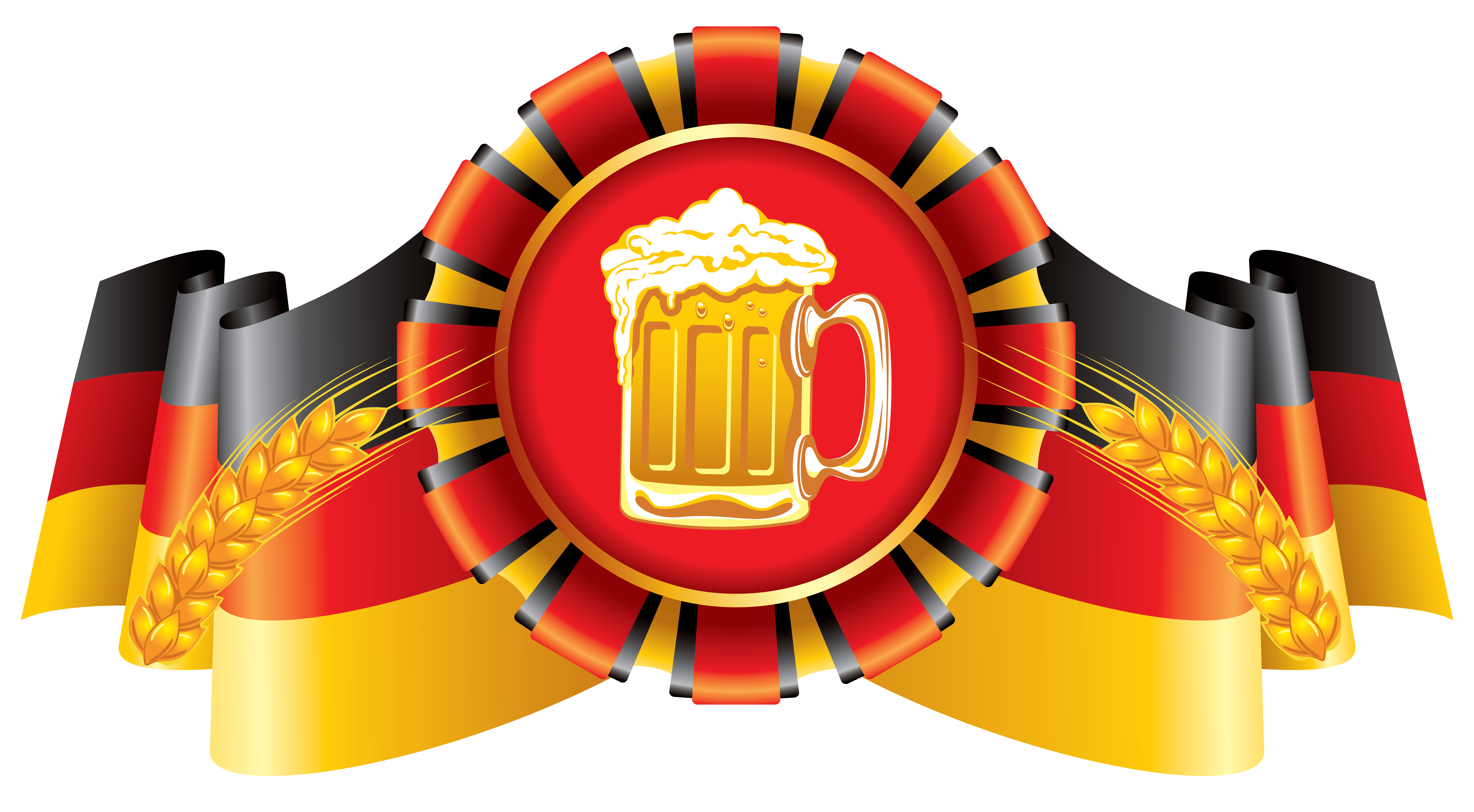 Oktoberfest german flag on pole clipart png graphic transparent library Oktoberfest Decor German Flag and Beer PNG Clipart Image | Gallery ... graphic transparent library
