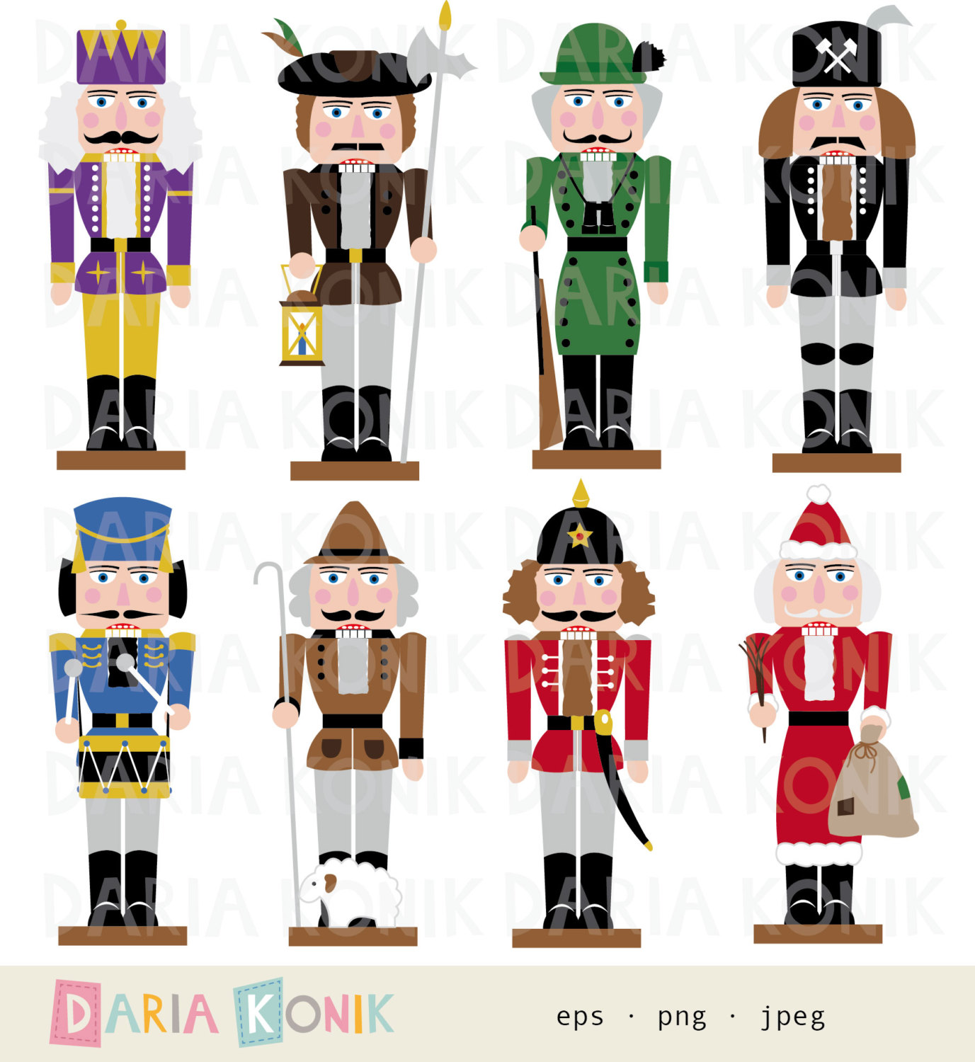 German christmas clipart free vector free library Nutcracker Clip Art Set Christmas Clipart Traditional - Free Clipart vector free library