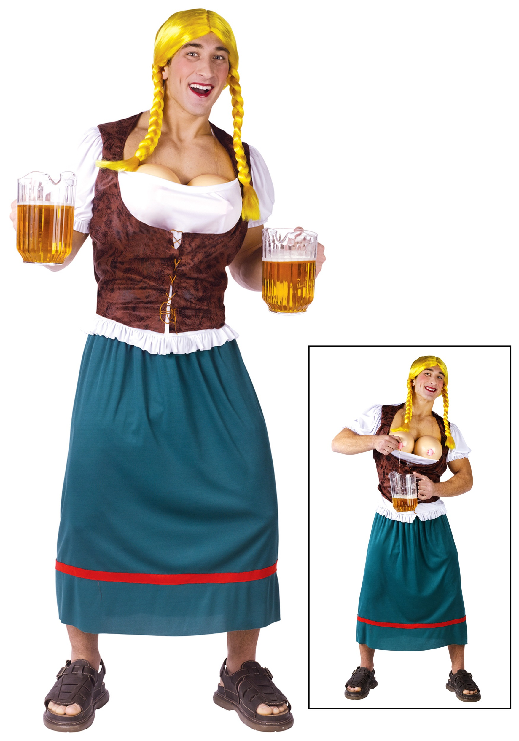 German man wearing traditional german clothing clipart graphic black and white stock Mens German Beer Girl Costume graphic black and white stock