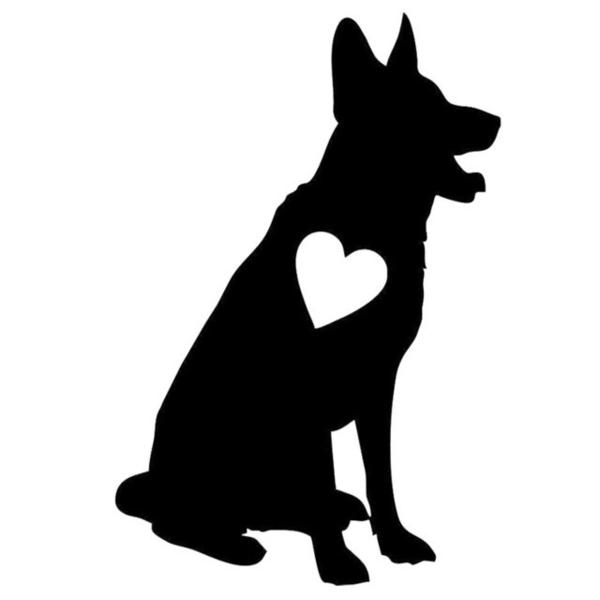 German shepherd clipart png black and white download German shepherd clipart black and white » Clipart Station png black and white download