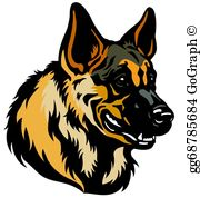 German shepherd clipart clip library library German Shepherd Dog Clip Art - Royalty Free - GoGraph clip library library