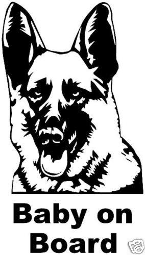 German shepherd clipart graphics clip transparent download German Shepherd Dog Fun Car sticker graphic decal clip transparent download