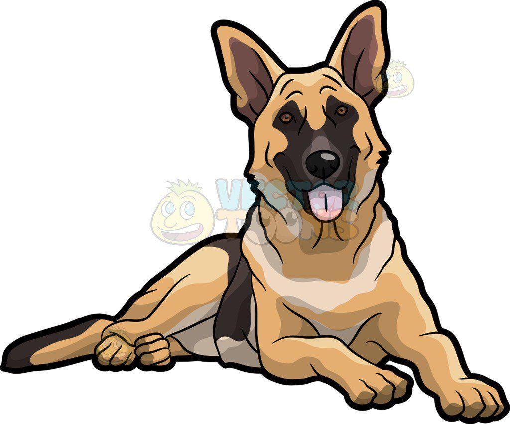 German shepherd laying down clipart jpg free download A Pretty German Shepherd Dog | dogs in 2019 | Animal drawings ... jpg free download