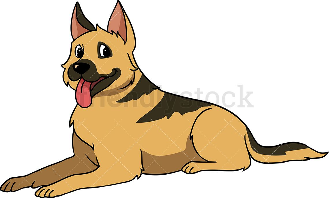 German shepherd laying down clipart picture library library German Shepherd Dog Lying Down | porodica | German shepherd dogs ... picture library library