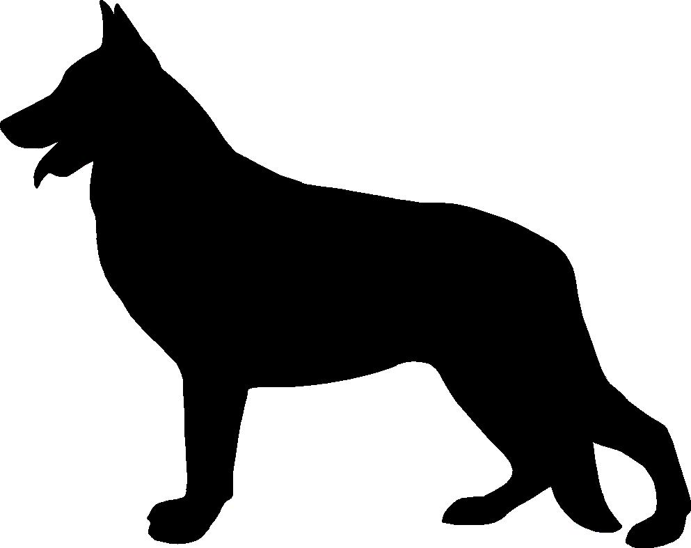 "German shepherd silhouette black and white clipart png freeuse HD 7al-german Shepherd Silhouette 48"" Arc Umbrella That - German ... png freeuse"