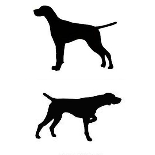 German shorthaired pointer clipart clip art transparent English or German Shorthair Pointer Dog Profile Silhouette Window ... clip art transparent