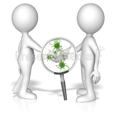 Germs spreading from person to person clipart png royalty free library Magnified Germ Handshake - Presentation Clipart - Great Clipart for ... png royalty free library