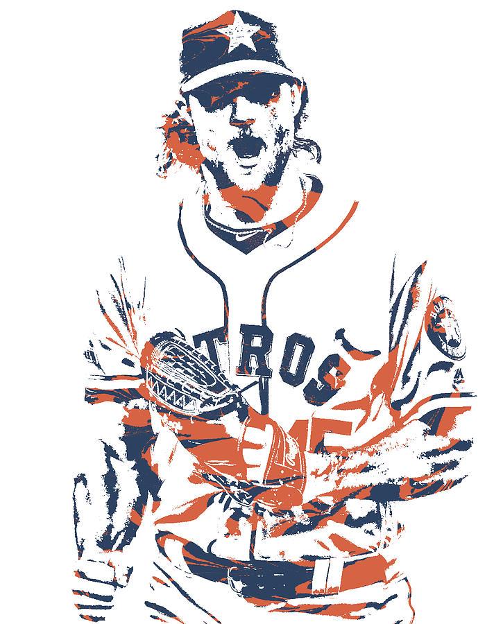 Gerrit cole clipart vector Gerrit Cole Houston Astros Pixel Art 1 vector