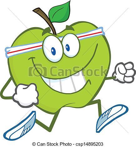 Gesund clipart png free stock Vektor Clipart von gesunde, Jogging, grün, Apfel - gesunde, grün ... png free stock