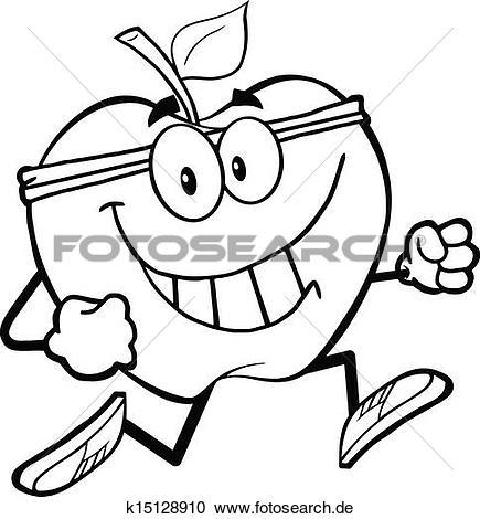 Gesund clipart vector free download Clipart - umrissen, gesund, apfel, jogging k15128910 - Suche Clip ... vector free download