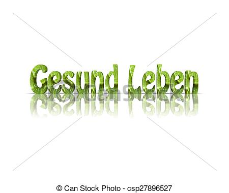 Gesund leben clipart picture royalty free library Clip Art of gesund leben / healthy life 3d word csp27896527 ... picture royalty free library