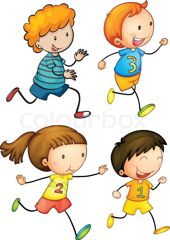 Gesund und fit clipart image library library Simple_runners | Vektorgrafik | Colourbox image library library