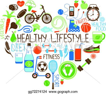 Gesund und fit clipart image black and white Fitness Clip Art - Royalty Free - GoGraph image black and white