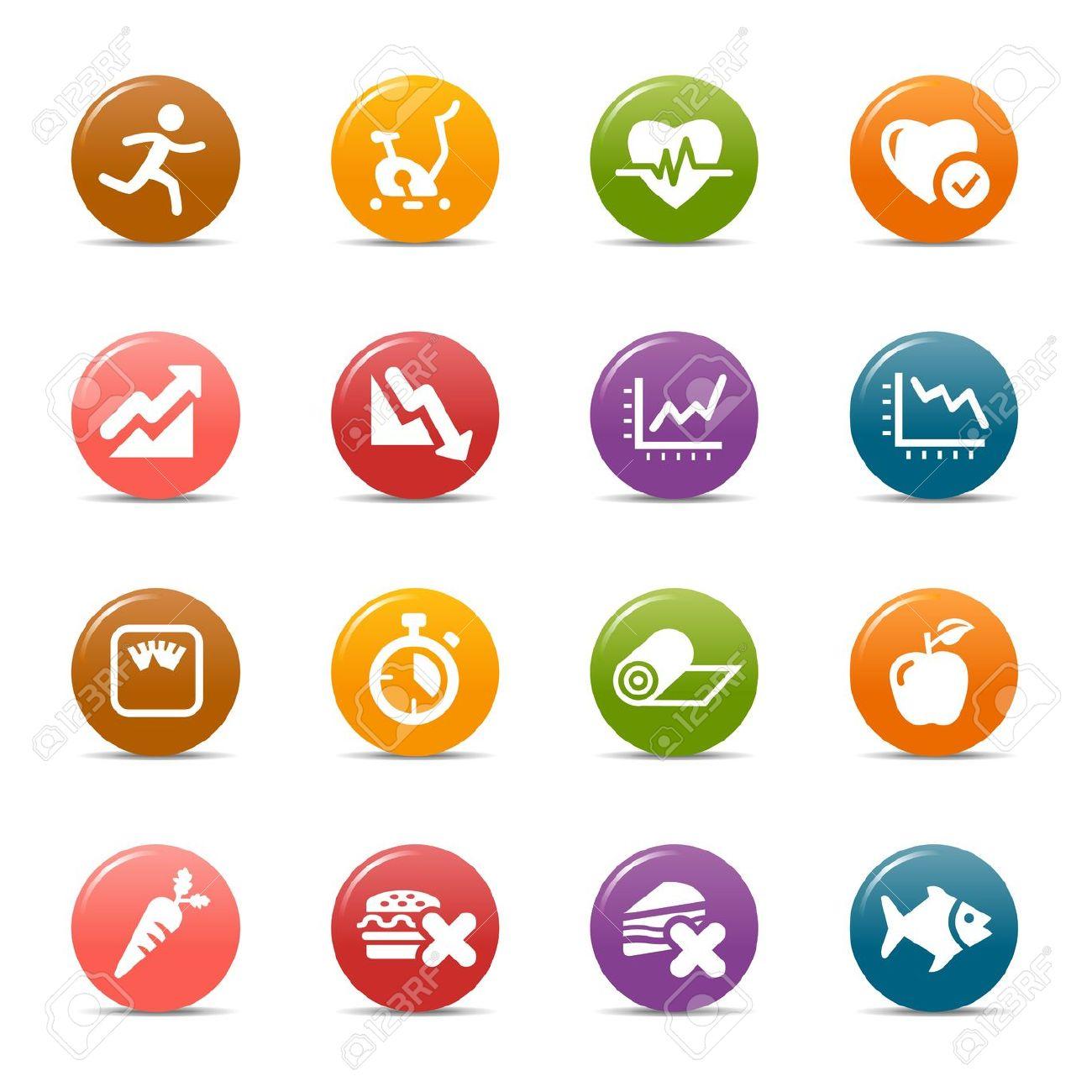 Gesund und fit clipart jpg library library Colored Dots - Gesundheit Und Fitness Icons Lizenzfrei Nutzbare ... jpg library library
