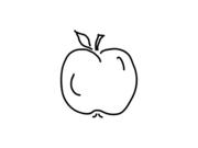 Gesundes essen clipart schwarz wei vector royalty free library Familie, Alltag und Essen - roter oder gruener Apfel als Obst und ... vector royalty free library