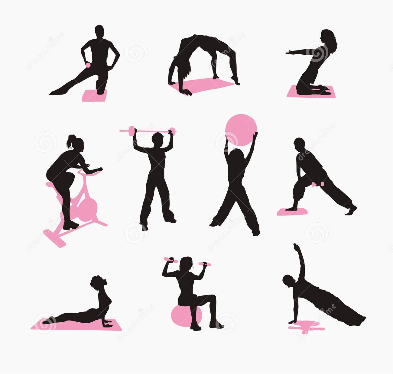 Get fit clipart clip art library stock Fit woman clipart - ClipartFest clip art library stock