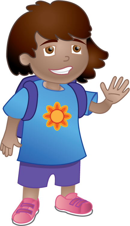 Girl getting ready for school clipart png download ClipArtFort: People » Education » Girl ready for school png download