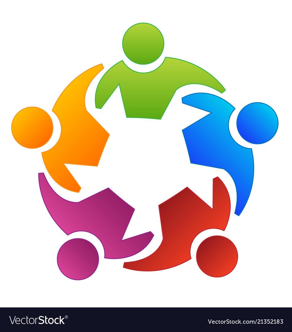 Get together logo clipart svg Teamwork group people working together logo svg
