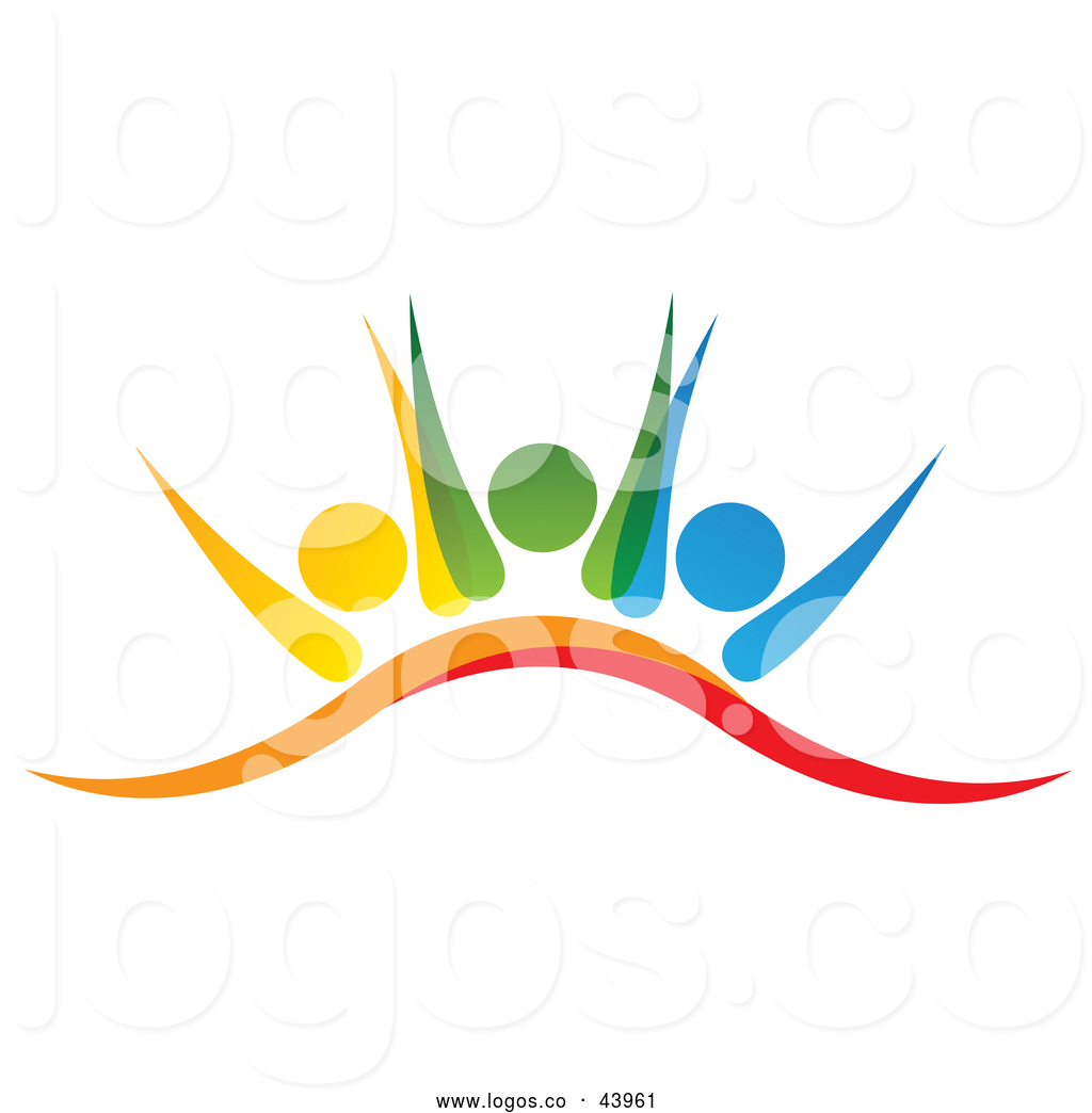 Get together logo clipart image freeuse stock Logo of a Colorful Teamwork Group Working Together by ColorMagic ... image freeuse stock